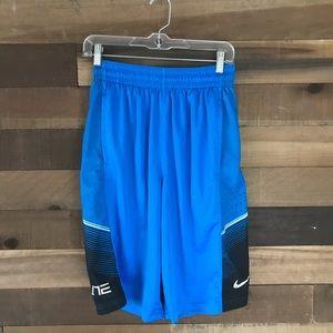 Blue nike elite basketball shorts size small